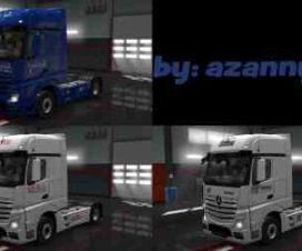 Mercedes New Actros Retro Skin Pack 1.30 by azannya26