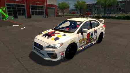 Pop Team Epic Paint Job Subaru Impreza 2017