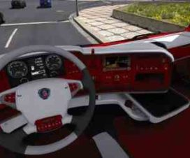 Scania R Red Interior 1.30