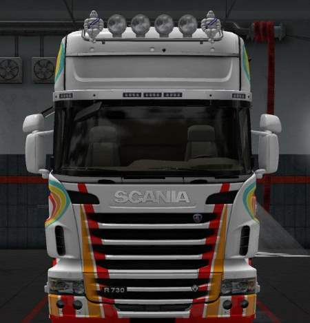 Striped Skin for Scania R 2012
