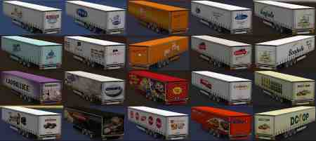 Variety of food trailers v1