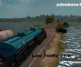 Less traffic for the map Severe Russia ETS2 v1.1