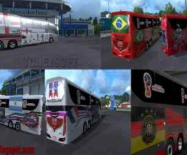 Bus skin pack Russia fifa world cup 2018