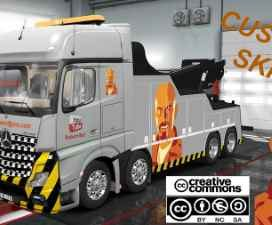 CUSTOM SKIN FOR MERCEDES BENZ ACTROS MPIV CRANE TRUCK ETS2 1.31