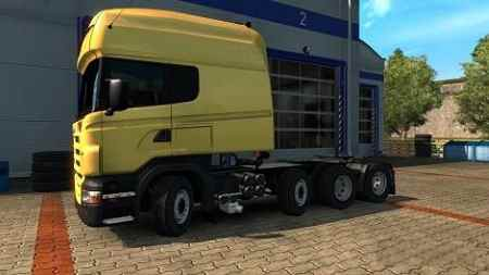 Scania RS fix Correction of rotary axles 1.31