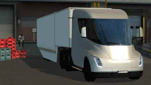 Tesla Semi Truck with Trailer 2019 – ETS2 1.31
