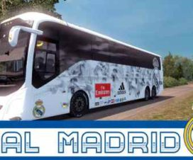 Volvo 9800 Bus Real Madrid Skin v1.30