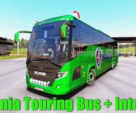 Scania Touring Bus + Interior v1