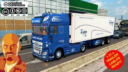 DAF XF 116 DE VRIES + TRAILER (RECOVERED) ETS2 1.31