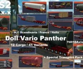 DOLL VARIO 7-10Axles Pack with 12 Cargos ETS2 1.31