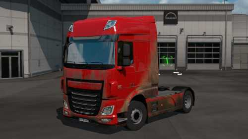 Dirt skins for DAF XF Euro6