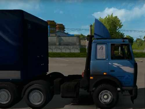 ETS2 MAZ-5432 64229 with a trailer MAZ-9758 by Nikola