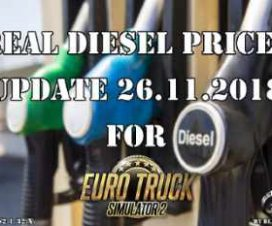 Real Diesel Prices for ETS2 map (upd.26.11.2018)