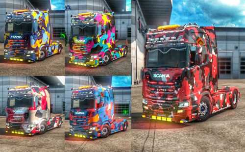 Scania S Camouflage Skin Pack v1.0