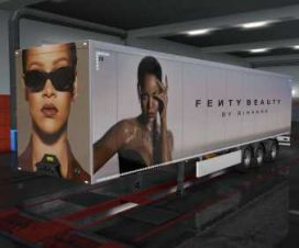 ETS2 Fenty Beauty Owned Trailer Skin 1.33