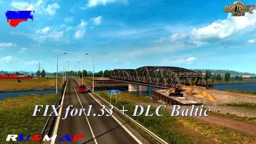 Fixed RusMap v1.8.1 for Baltic DLC 1.33
