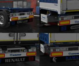 Mudflaps for own trailers Krone v1