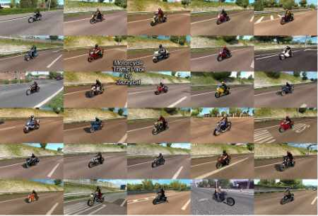 Motorcycle Traffic Pack by Jazzycat v2.2