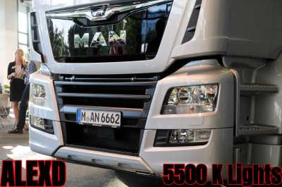 ALEXD 5500 K Lights MAN TGX EURO 6