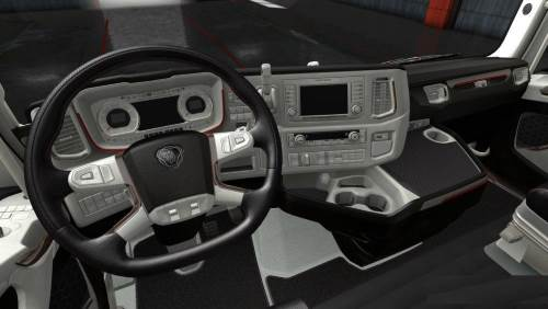 Black White Scania S & R Interior