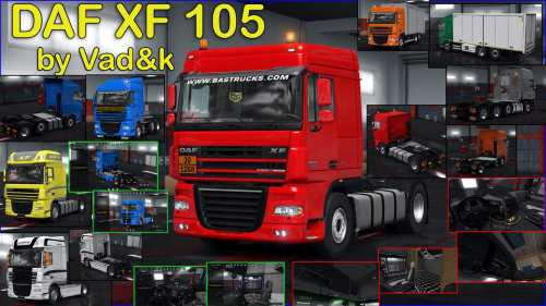 DAF XF 105 v6.5 by vad&k 1.34