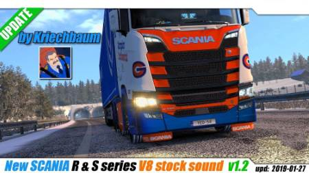 ETS2 New Scania R & S Series V8 Stock Sound