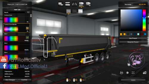 ETS2 Paint job Custom Colour for Trailers Wielton