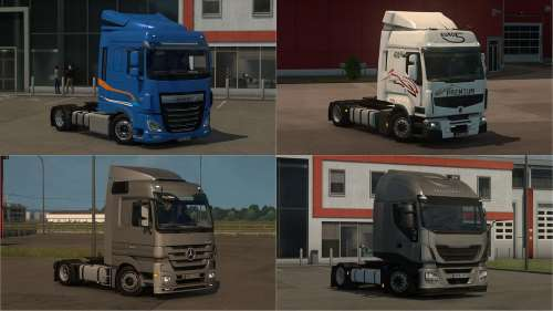 Low deck chassis addons for Schumi's trucks v2.2