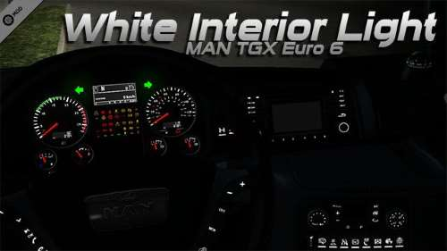 MAN TGX Euro 6 White Interior Light 1.34