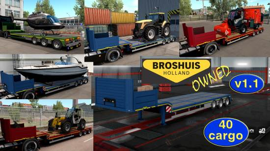 Ownable overweight trailer Broshuis v1.1