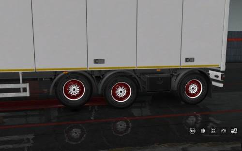 Painted Wheels for Trailers