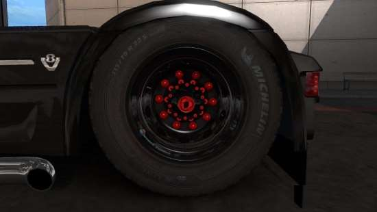 Rhodee Tuning Wheels Red for Abasstreppas Wheel Pack