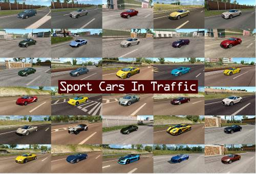 Sport Cars Traffic Pack by TrafficManiac v3.0