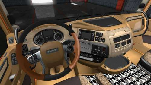 DAF E6 Gold Wood Interior 1.34