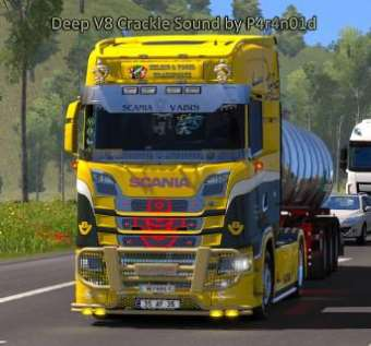 Deep Scania V8 Crackle