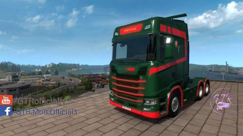 Skin Portugal for Scania S Next Gen
