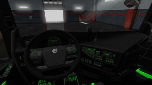Volvo FH 2012 Black – Green Interior With Green Lights 1.34