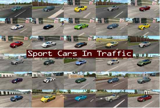 Sport Cars Traffic Pack by TrafficManiac v3.8.1