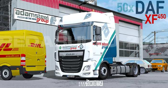 ets2 DAF Euro 6 Skin Adam Steel Transport