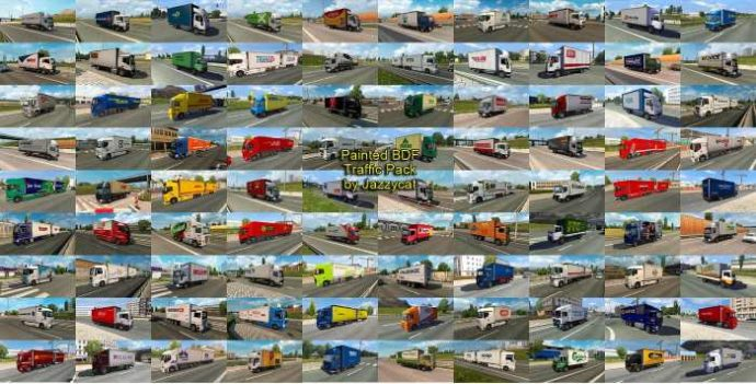 ets2 Painted BDF Traffic Pack by Jazzycat v7.0