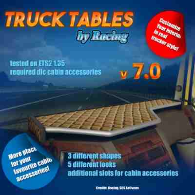 Truck Tables by Racing v7